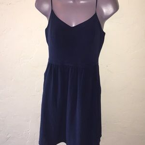 Madewell dark navy blue dress 👗